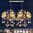 Đèn Chùm Pha Lê Nến Đồng NLNC88008-10