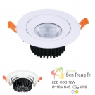 Đèn LED 12W Âm Trần Chiếu Góc EU-LA483 Ø90