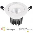 Đèn LED 30W Âm Trần Chiếu Góc EU-LA496 Ø120