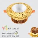 Đèn LED 12W Âm Trần Cổ Điển EU-LA502 Ø95