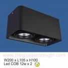 Đèn Lon LED 24W Gắn Nổi SN2318 105x200