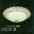Đèn Ốp Trần Led Đổi Màu NLNM215B Ø400