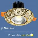 Đèn LED 10W Âm Trần Cổ Điển SN2324 Ø75