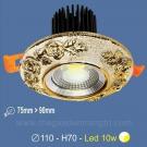Đèn LED 10W Âm Trần Cổ Điển SN2325 Ø75