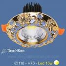 Đèn LED 10W Âm Trần Cổ Điển SN2328 Ø75