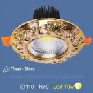 Đèn LED 10W Âm Trần Cổ Điển SN2329 Ø75