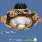 Đèn LED 10W Âm Trần Cổ Điển SN2331 Ø75