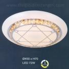 Đèn Áp Trần LED UOT1808D Ø450