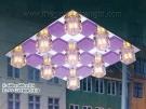 Đèn Mâm Led Vuông VIR137 600x600