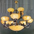 Đèn Chùm Đồng SUN005 Ø1000