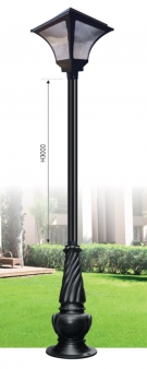 Đèn Trụ Trang Trí Sân Vườn Solar TRỤ 160 H4000