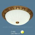 Đèn Áp Trần LED Đồng SN1027B Ø400