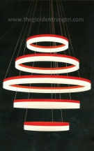 Đèn Thả Led Nghệ Thuật UCTL006 Đỏ Ø800
