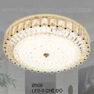 Đèn Ốp Trần LED KH-OPLH130 Ø500