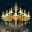 Đèn Chùm Nến Đồng Đá Ngọc VIR255 Ø1000