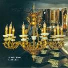 Đèn Chùm Nến Đồng Đá Ngọc VIR258 Ø900