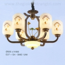 Đèn Chùm Đồng EU-CD37 Ø690