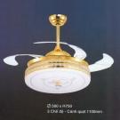 Đèn Quạt Cánh Xếp NA-QT87896 Ø1100