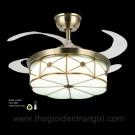 Đèn Quạt Thân Đồng Cánh Xếp ERA-QD9014 Ø1100