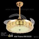 Đèn Quạt Trần Hiện Đại ERA-QD9021 Ø1100