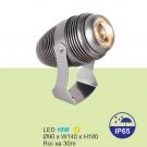 Đèn LED 10W Pha Cột Rọi Xa 30m URN07 Vàng