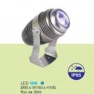 Đèn LED Rọi Cột 10W URN07 Xanh Dương