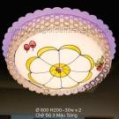 Đèn Ốp Trần Led Đổi Màu SN6095 Ø600