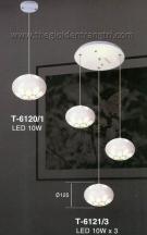 Đèn Thả Led 3 Bóng ET6121 Ø300