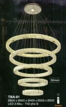 Đèn Thả Led Nghệ Thuật TBA81 Ø600