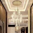 Đèn Thả Pha Lê LED Thông Tầng LH-TH8005-21 Ø800