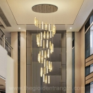 Đèn Thả Pha Lê LED Thông Tầng LH-TH8006-21 Ø1000